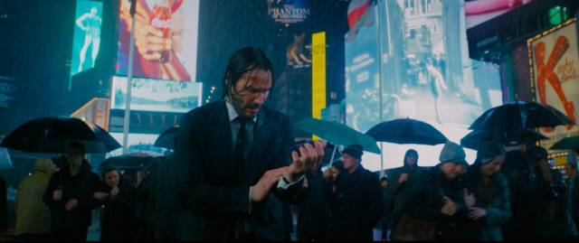 It's tough being an international assassin: Keanu Reeves in John Wick 3 (2019)