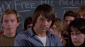 Rossiter (Gary Lockwood) is a trouble-maker imported from Berkeley in Stanley Kramer's R.P.M. (1970)