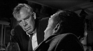 Bill Tenny, a bitter loser (Lee Marvin), and Karl Glocken, a wry observer (Michael Dunn), sail towards disaster together in Stanley Kramer's Ship of Fools (1965)