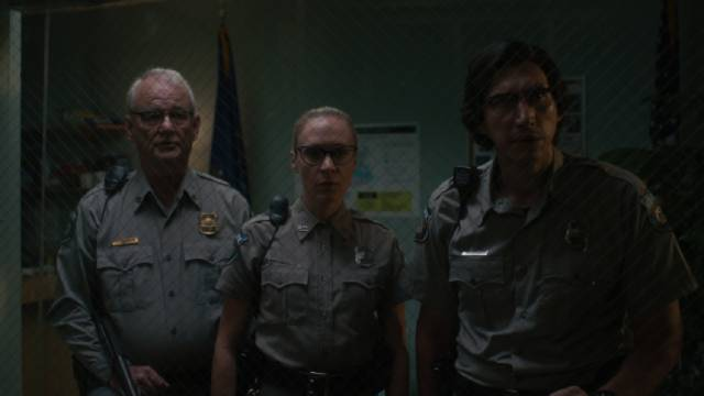 Small town cops Bill Murray, Chloe Sevigny and Adam Driver are perplexed by the zombie apocalypse in Jim Jarmusch's The Dead Don't Die (2019)