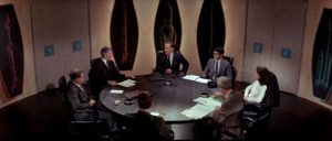 The research committee learns that there is a threat amongst them in Byron Haskin's The Power (1968)