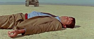 Jim Tanner (George Hamilton) falls victim to attempted murder by proxy in Byron Haskin's The Power (1968)