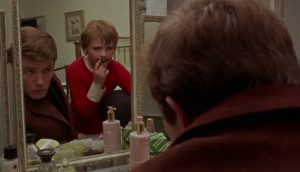 Charlie (Albert Finney) is alienated from his son Jack (Timothy Garland) in Albert Finney's Charlie Bubbles (1968)