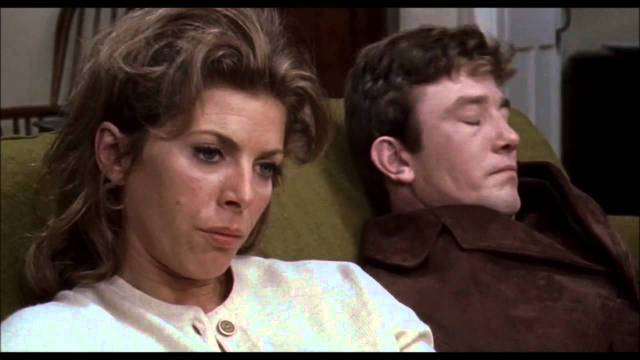 Success has erected an impenetrable wall between Charlie Bubbles (Albert Finney) and ex-wife Lottie (Billie Whitelaw) in Albert Finney's Charlie Bubbles (1968)