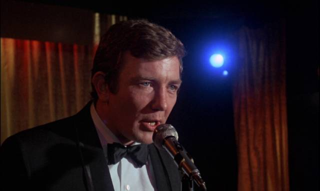 Eddie Ginley (Albert Finney) dreams of the big time in Stephen Frears' Gumshoe (1971)