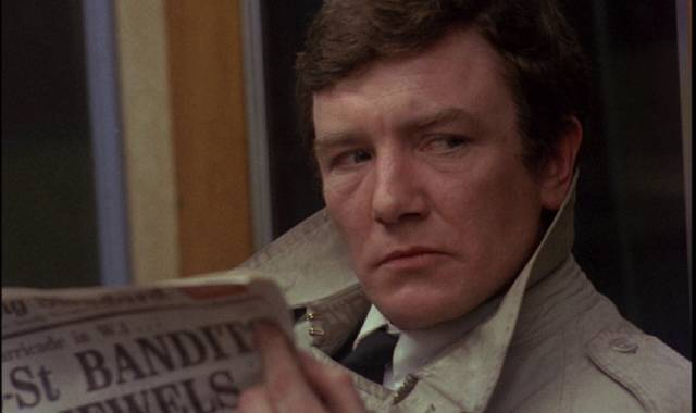 Eddie Ginley (Albert Finney) tries to escape his mundane life in Stephen Frears' Gumshoe (1971)