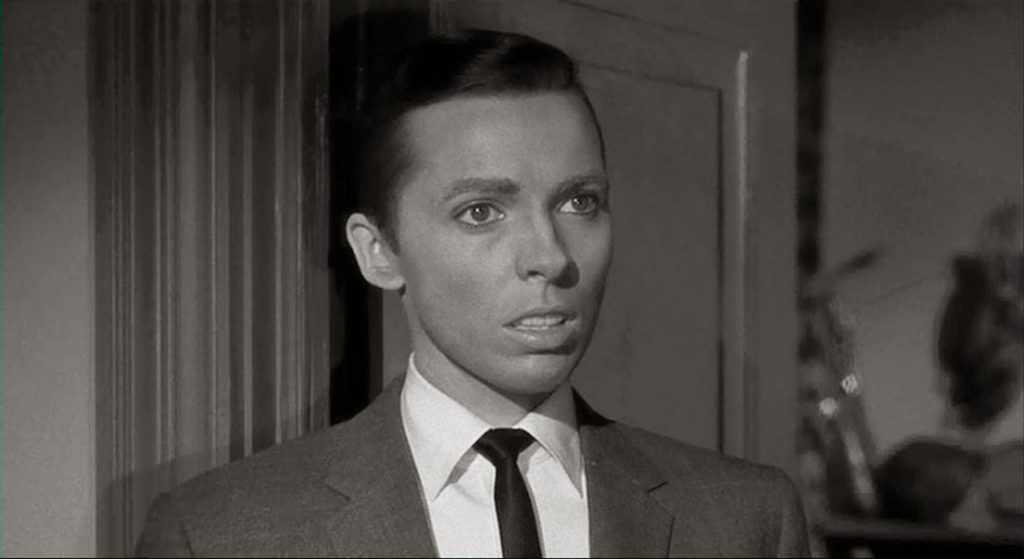 "Warren (""Jean Arless"") is concerned about Emily's sanity in William Castle's Homicidal (1961)"