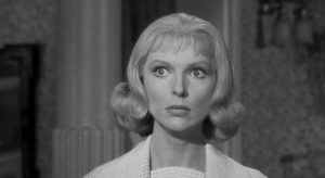 Emily (Joan Marshall) becomes increasingly unhinged in William Castle's Homicidal (1961)
