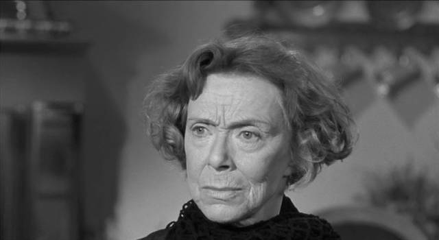 Helga Eugenie Leontovich), rendered mute by a stroke, can't reveal what she knows in William Castle's Homicidal (1961)