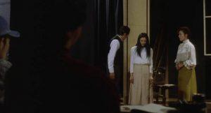Sadako (Hinako Saeki) joins a school theatre group in Norio Tsuruta's Ring 0 (2000)