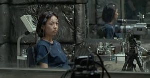 Masami (Hitomi Sato) is hooked up to a machine which records the images in her head in Hideo Nakata's Ring 2 (1999)