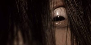 Long hair and creepy eyes, key features of J-Horror ghosts: Hideo Nakata's Ringu (1998)