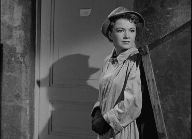 Eve Harrington (Anne Baxter), adoring fan with a hidden agenda in Joseph L. Mankiewicz's All About Eve (1950)