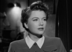 Eve (Anne Baxter) closely observes Margot (Bette Davis) and models herself on the star in Joseph L. Mankiewicz's All About Eve (1950)