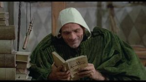 Pier Paolo Pasolini plays Geoffrey Chaucer in his adaptation of The Canterbury Tales (1972)