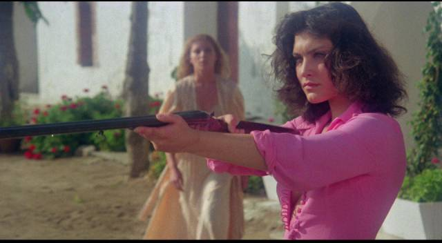 Patricia Granada and Lidia Zuazo in Jose Ramon Larraz' The Coming of Sin (1977)
