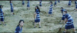 Nami (Meiko Kaji) doing hard time in Shunya Ito's Female Prisoner 701: Scorpion (1972)
