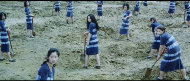 Nami (Meiko Kaji) doing hard time in Shunya Ito's Female Prisoner 701: Scorpion (1972)
