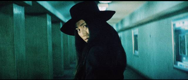Nami (Meiko Kaji) spreads her rebellion out into the world in Yasuharu Hasebe's Female Prisoner Scorpion: 701's Grudge Song (1973)