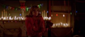 Julia (Patricia Mickey) is stalked by a killer in Ovidio Assonitis' Madhouse (1981)