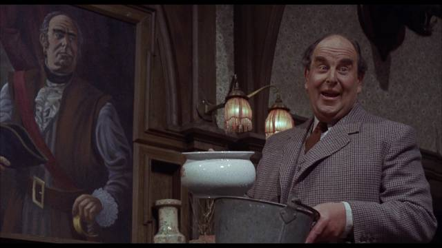 Robert Morley gives his all as Roderick Femm in William Castle's The Old Dark House (1963)