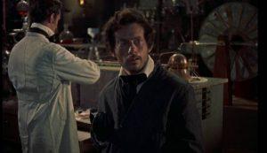 Karl (Oscar Quitak) looks longingly in Terence Fisher's The Revenge of Frankenstein (1958)...