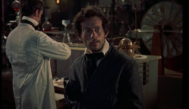 Karl (Oscar Quitak) looks longingly in Terence Fisher's The Revenge of Frankenstein (1958)...