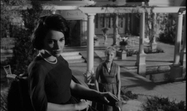 Penny (Susan Strasberg) is suspicious of her stepmother Jane (Ann Todd) in Seth Holt's Taste of Fear (1961)