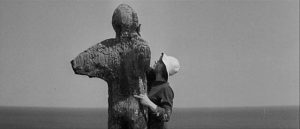Freya (Viveca Lindfors)'s apocalyptic sculptures stand as a memorial to a doomed world in Joseph Losey's The Damned (1962)