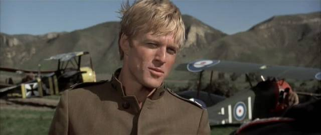 Waldo (Robert Redford) finally meets the German ace Ernst Kessler (Bo Brundin) on a movie set in George Roy Hill's The Great Waldo Pepper (1975)