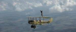 Waldo and Axel (Bo Svenson) practice wing-walking in George Roy Hill's The Great Waldo Pepper (1975)
