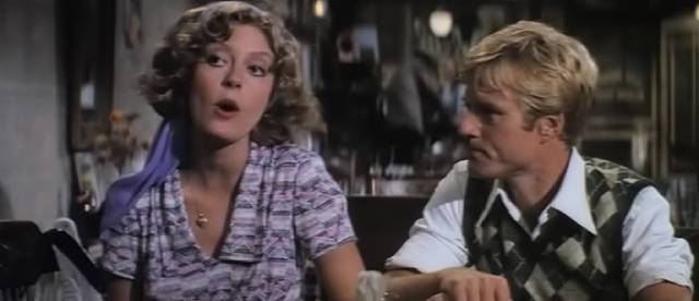 Waldo tries to impress Mary Beth (Susan Sarandon) with stolen stories of valour in George Roy Hill's The Great Waldo Pepper (1975)