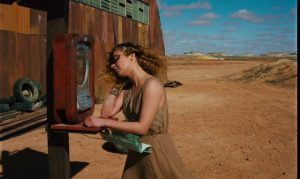 Claire (Solveig Dommartin) calls home from the outback in Wim Wenders' Until the End of the World (1991)