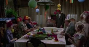 Willard (Bruce Davison)'s mother throws him a horrific surprise birthday party in Daniel Mann's Willard (1971)