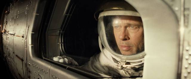 Astronaut Roy McBride (Brad Pitt) contemplates the void in James Gray's Ad Astra (2019)