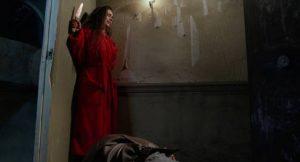 A primal entity takes control of Yanka (Emmanuelle Escourrou) in Alain Robak's Baby Blood (1990)