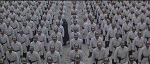 Gen. Midwinter (Ed Begley)'s private army prepares to ignite a new revolution in the Soviet Bloc in Ken Russell's Billion Dollar Brain (1967)