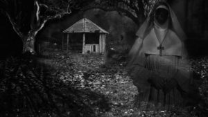 A ghostly nun haunts the grounds in Ashley Thorpe's Borley Rectory (2017)