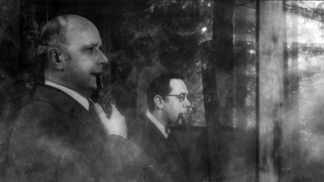 Harry Price (Jonathan Rigby) and reporter V.C. Wall (Reece Shearsmith) wait patiently for the spirits to materialize in Ashley Thorpe's Borley Rectory (2017)