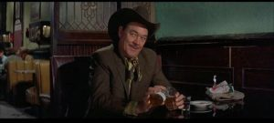 Buck Roan (Ben Johnson) owns the bull Junior (Steve McQueen) is desperate to beat in Sam Peckinpah's Junior Bonner (1972)