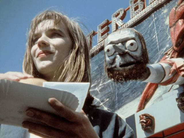 Monika (Monika M.) enjoys an outing to the carnival in Jorg Buttgereit's Nekromantik 2 (1991)