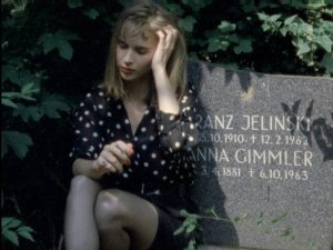 Monika (Monika M.) exhumes Rob from a fresh grave in Jörg Buttgereit's Nekromantik 2 (1991)