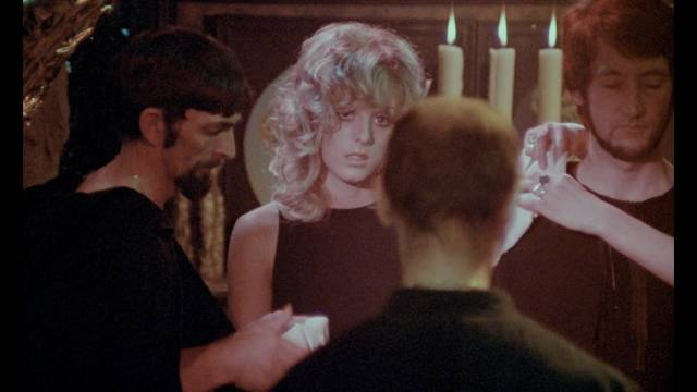 Penny (Penny Beecham) begins her initiation into the craft in Derek Ford's Secret Rites (1971)
