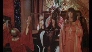 The Sabbath Goat overseas a ceremony in Derek Ford's Secret Rites (1971)