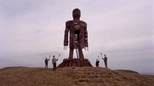 A chilling image of religious belief in Robin Hardy's The Wicker Man (1973)