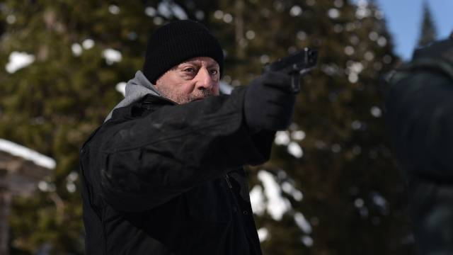 Jean Reno does his thing, being weary yet cool as he kills people, in Frederic Petitjean's Cold Blood (2019)