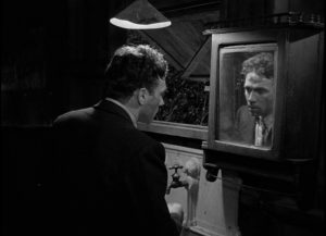 Now a murderer himself, Danny Hawkins (Dane Clark) succumbs to guilt and paranoia in Frank Borzage's Moonrise (1948)