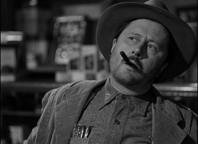 Allyn Joslyn as Sheriff Clem Otis, the most laid-back, empathetic Southern lawman in Hollywood history in Frank Borzage's Moonrise (1948)