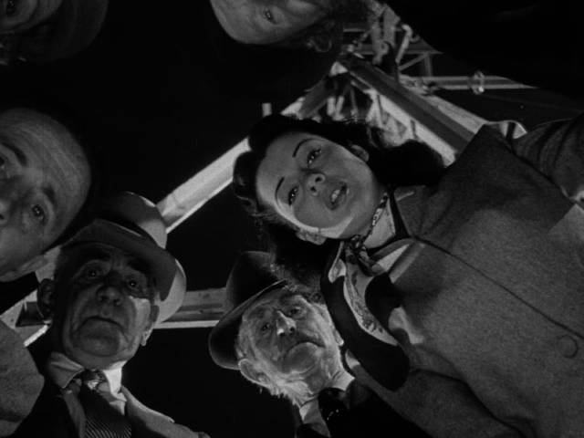 Danny Hawkins (Dane Clark)'s paranoia becomes unbearable at the town fair in Frank Borzage's Moonrise (1948)