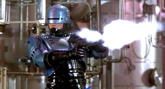 Peter Weller lays down the law in Paul Verhoeven's RoboCop (1987)